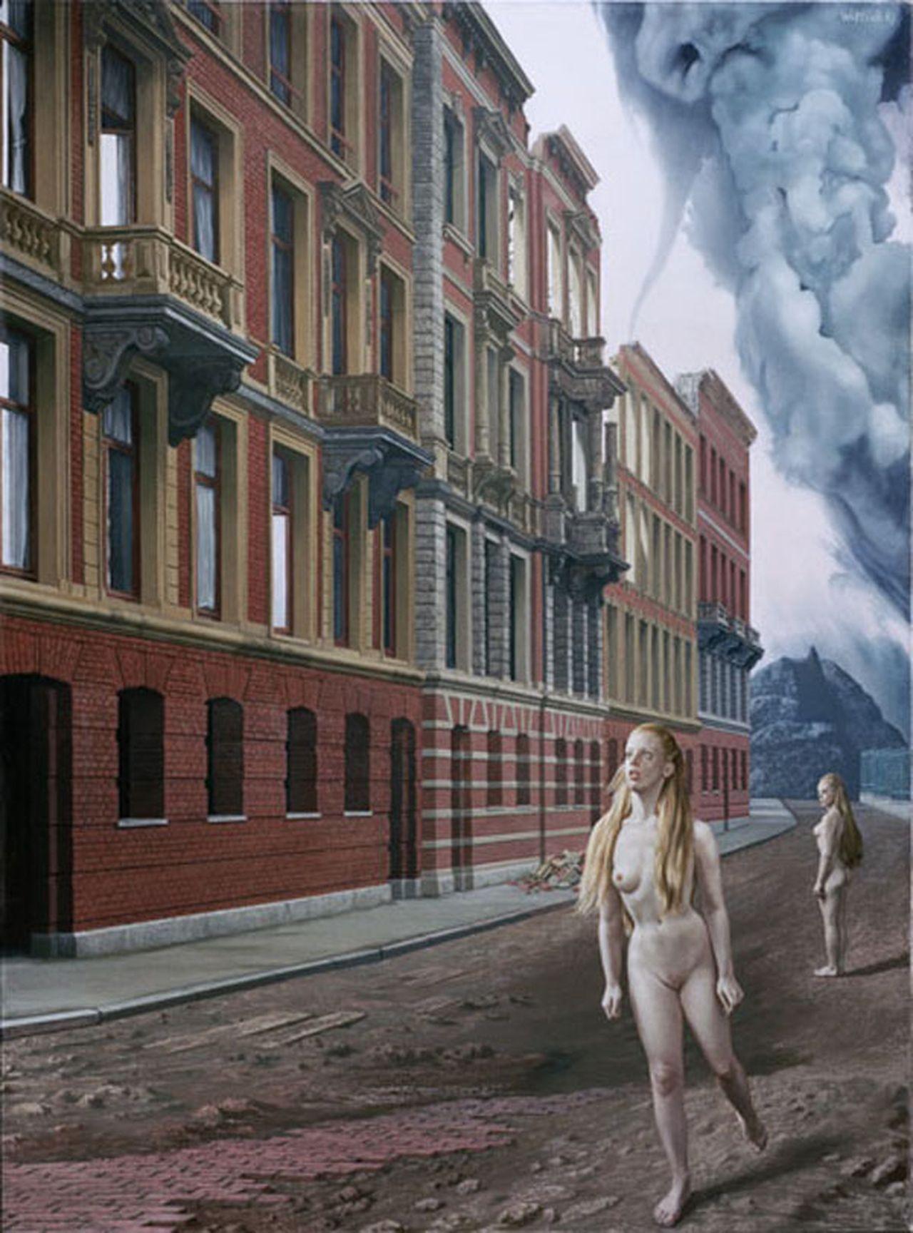 'Fuga monialium'(1967), Vossiusstraat 4-12 (schilderij)
