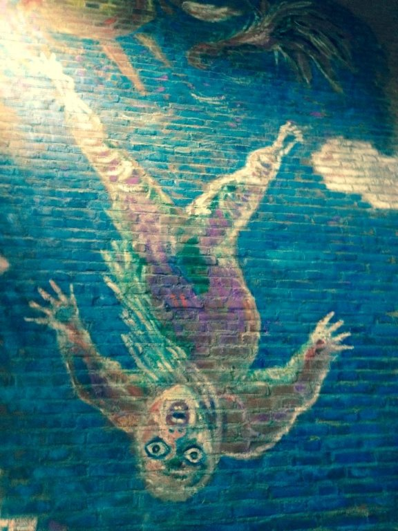 Aad de Haas 'Icarus' muurschildering Sint Bernardinuscollege te Heerlen