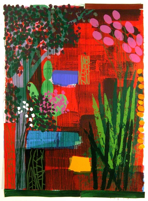 Bruce Mclean Mauve Garden