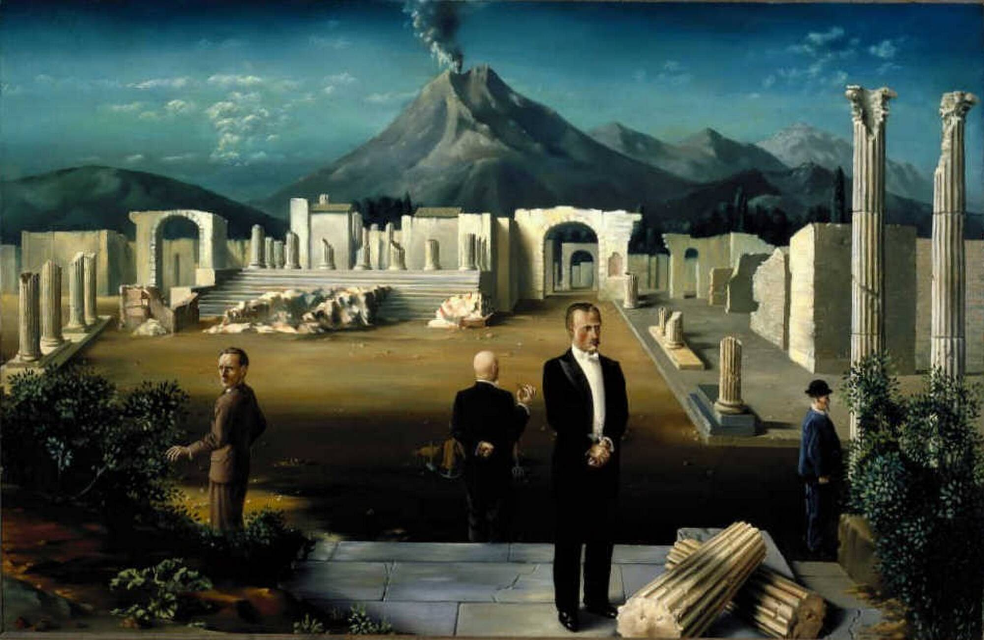 Carel Willink Late Visitors to Pompeii