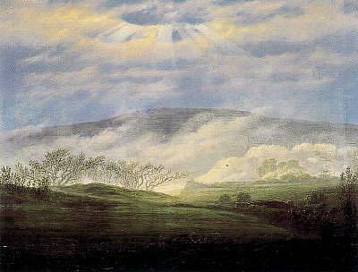 Caspar David Friedrich Fog in the Elbe Valley