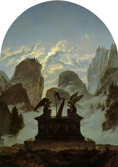 Caspar David Friedrich Monument to Goethe