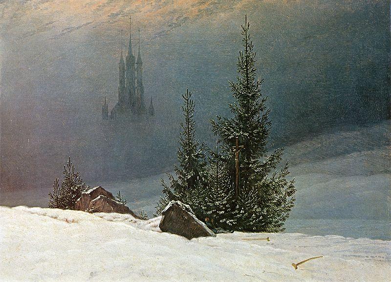 Caspar David Friedrich Winterlandschaft mit Kirche