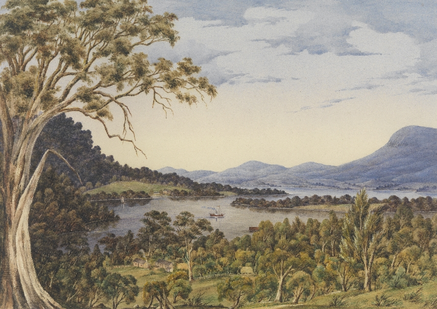 Cleburne Margaret Sarah ca 1829 1885 The River Derwent from Old Beach