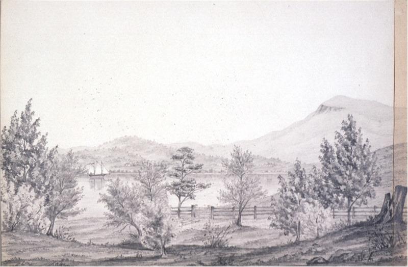Cleburne Margaret Sarah ca 1829 1885 View on the River Derwent c 1870