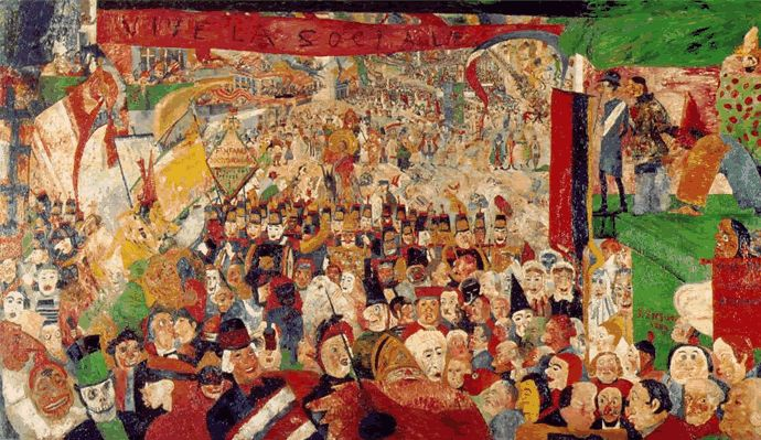 James Ensor De intocht van Christus in Brussel