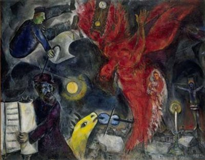 Marc Chagal De val van de engel