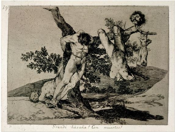 Francisco Jose de Goya y Lucientes 1746-1828 Por que Waarom van de reeks Los Desastres de la Guerra circa 1810-1820 gepubliceerd in 1863
