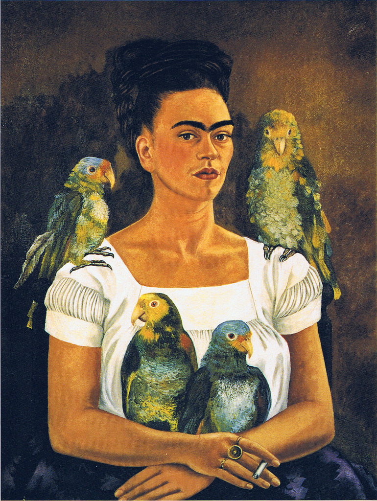 Frida Kahlo Me and My Parrots 1941