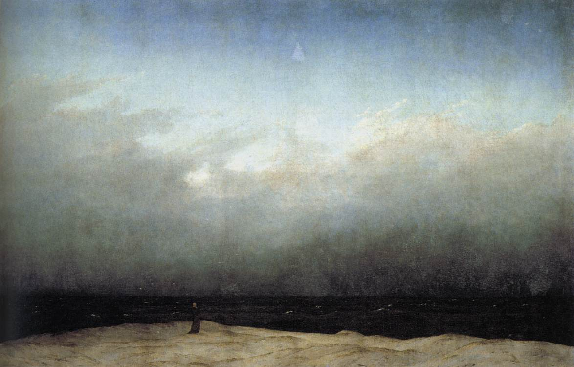 Friedrich Casper David Monk by the sea