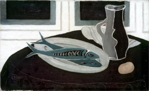 Georges Braque Bottle and Fishes 1941