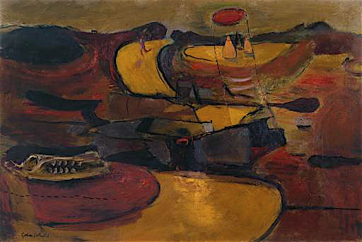 Graham Sutherland Welsh landscape  with roads 1936