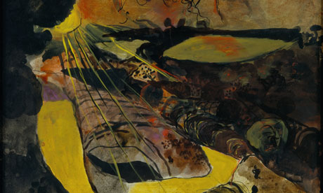 Graham Sutherland Welsh Landscape With Yellow Lane 1939-40