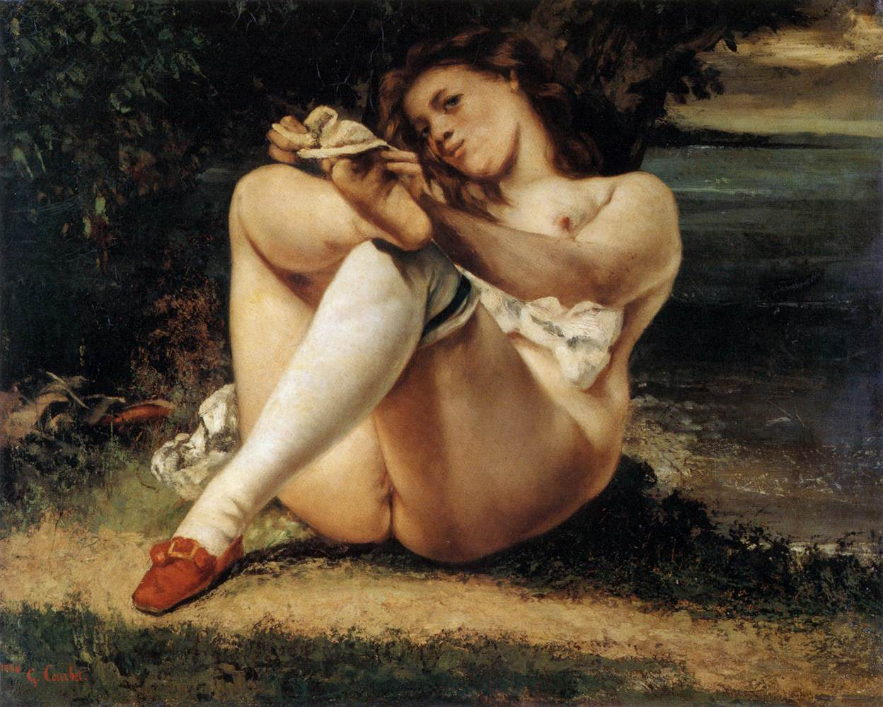 Gustave Courbet Woman with White Stockings Les Bas Blancs 1861