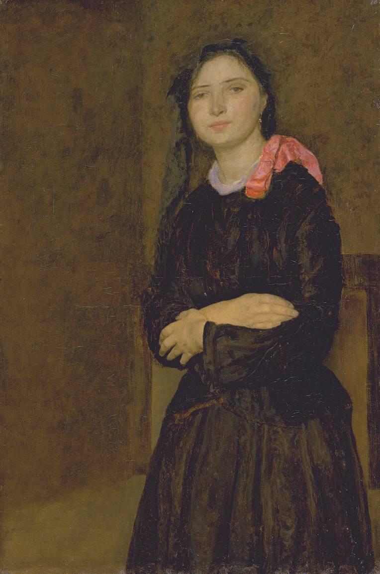 Gwen John Dorelia in a Black Dress c.1903-4