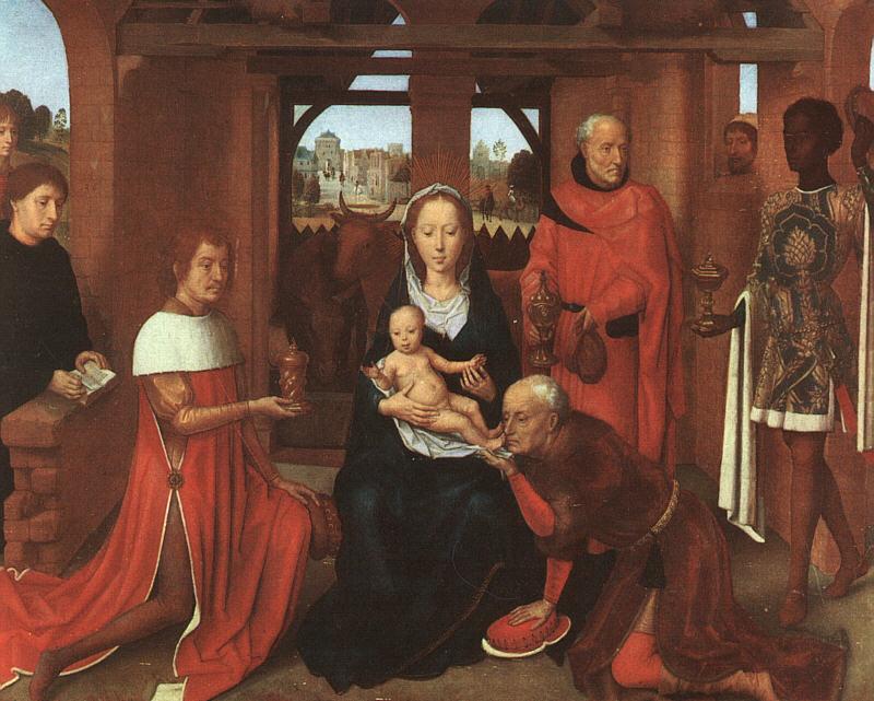 Hans Memling Aanbidding der wijzen 1479