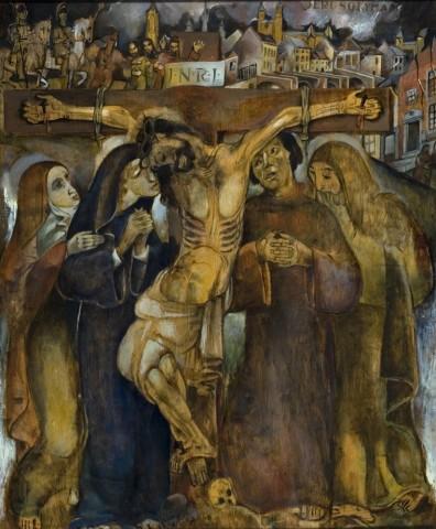 Henri Jonas Christus aan het kruis in de kleine Looiersstraat - 1935
