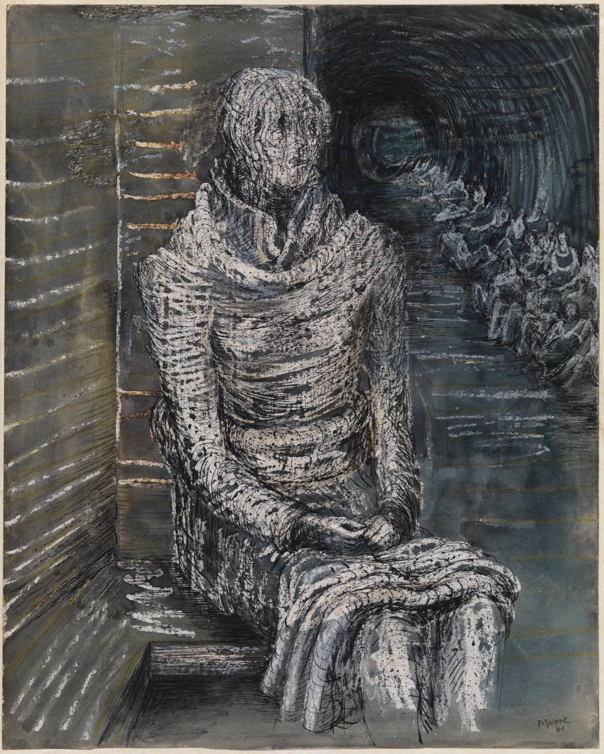 Henry Moore Woman Seated in the Underground 1941