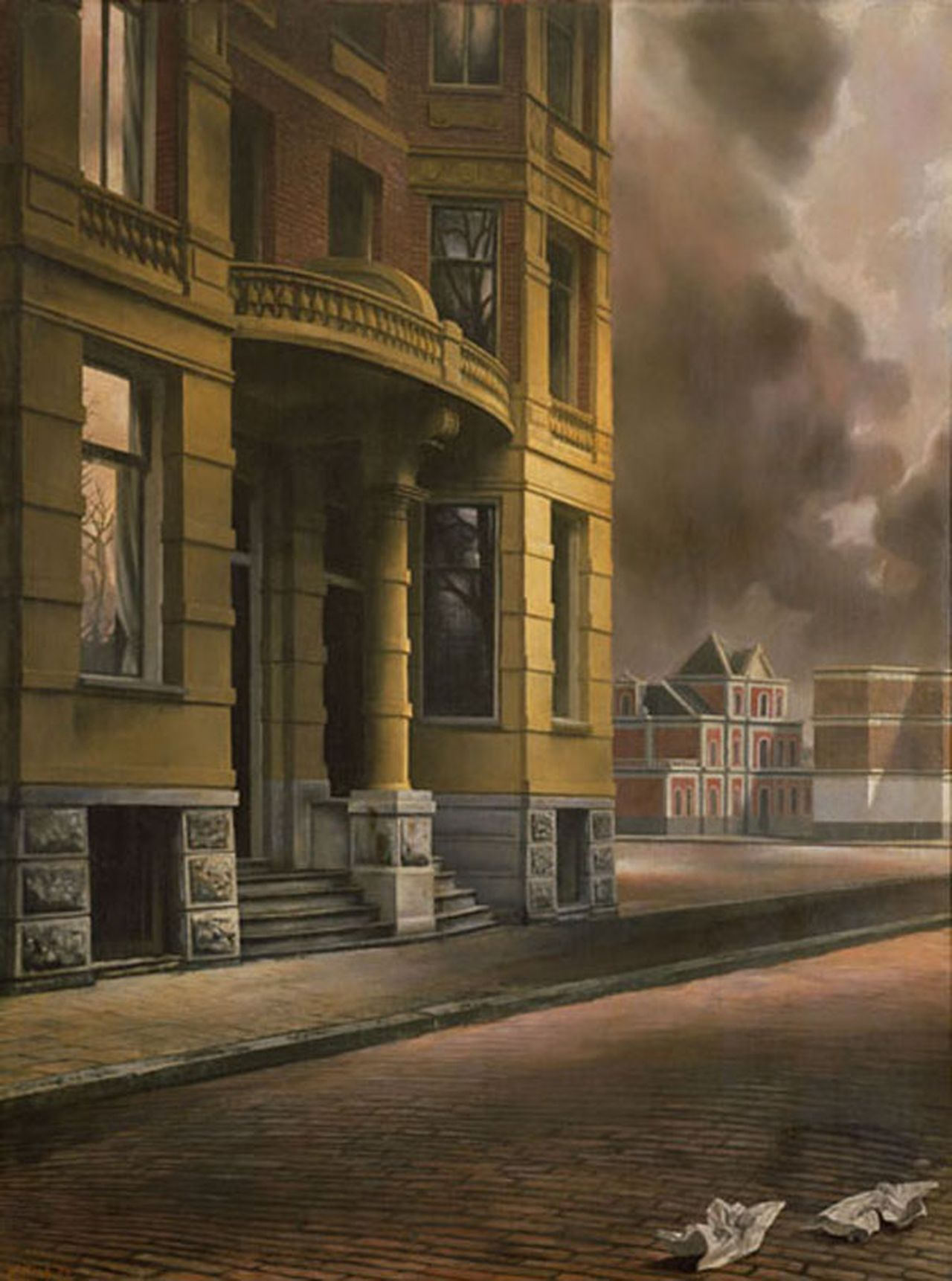 Het gele huis (1934), hotel Piet Hein, Vossiusstraat 51-53 (schilderij)