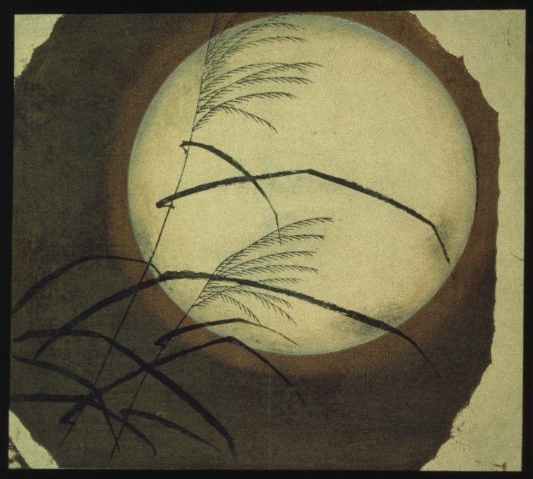 Hiroshige Wind Blown Grass Across the Moon