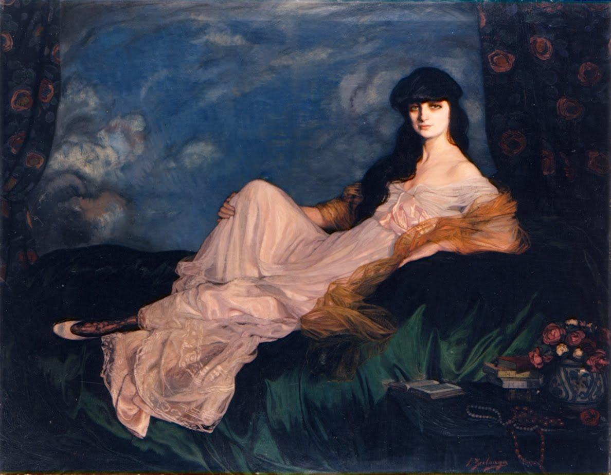 Ignacio Zuloaga, Portrait de la comtesse de Noailles, 1913, oil on canvas, 152 x 195,5 cm. Museo de Bellas Artes de Bilbao