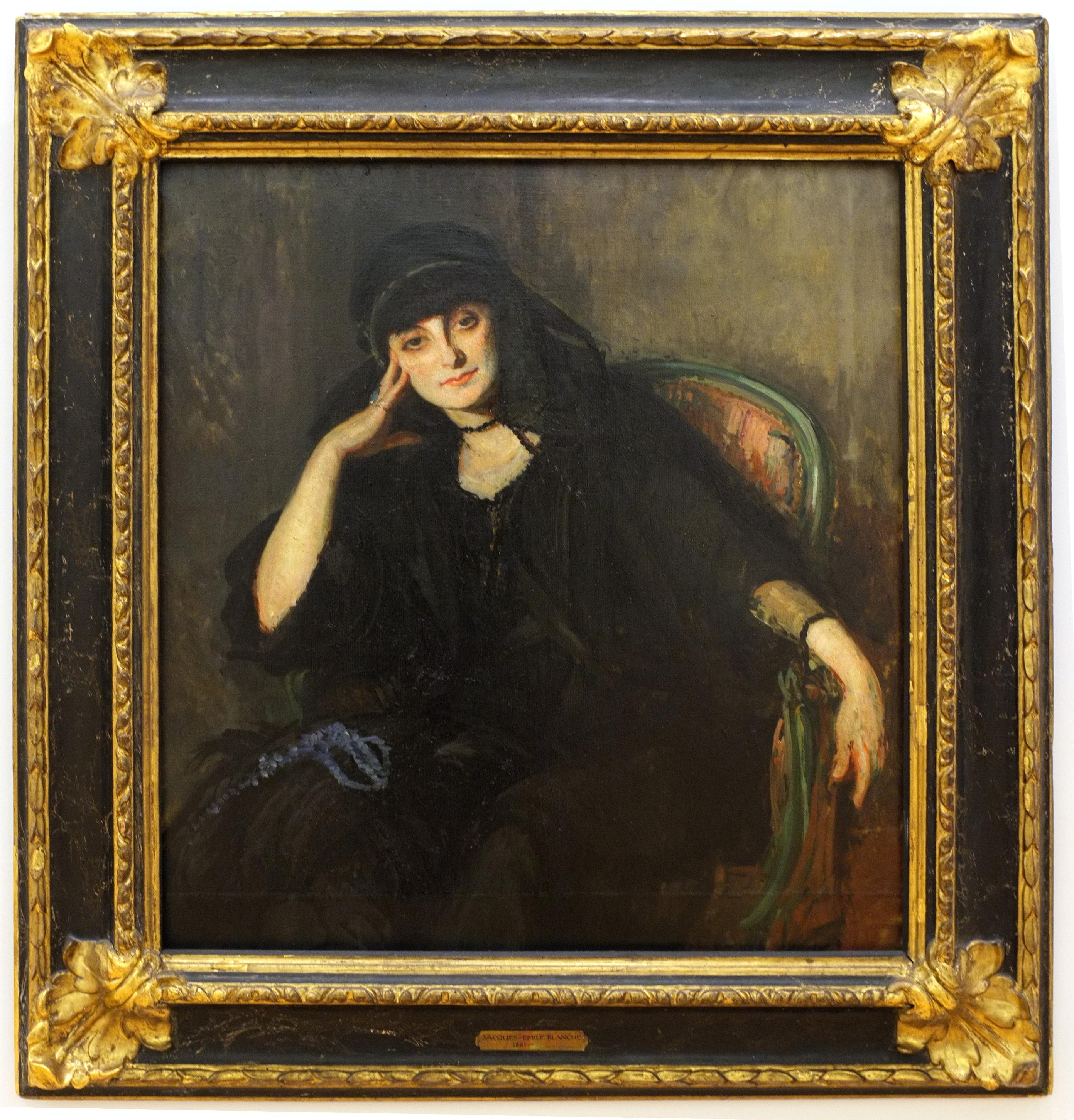 Jacques Emile Blanche Portrait of Anna de Noailles, 1919, oil on canvas, Musee d art moderne et contemporain de Strasbourg, France
