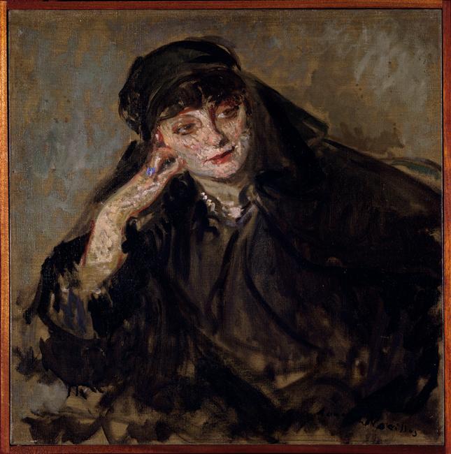 Jacques Emile Blanche Study or the portrait of Anna de Noailles, 1919, oil on canvas, 61 x 61 cm, Musee des Beaus-Arts, Rouen, France