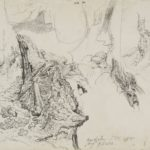 James Ward Study for Gordale Scar Details of Rocks near Waterfall