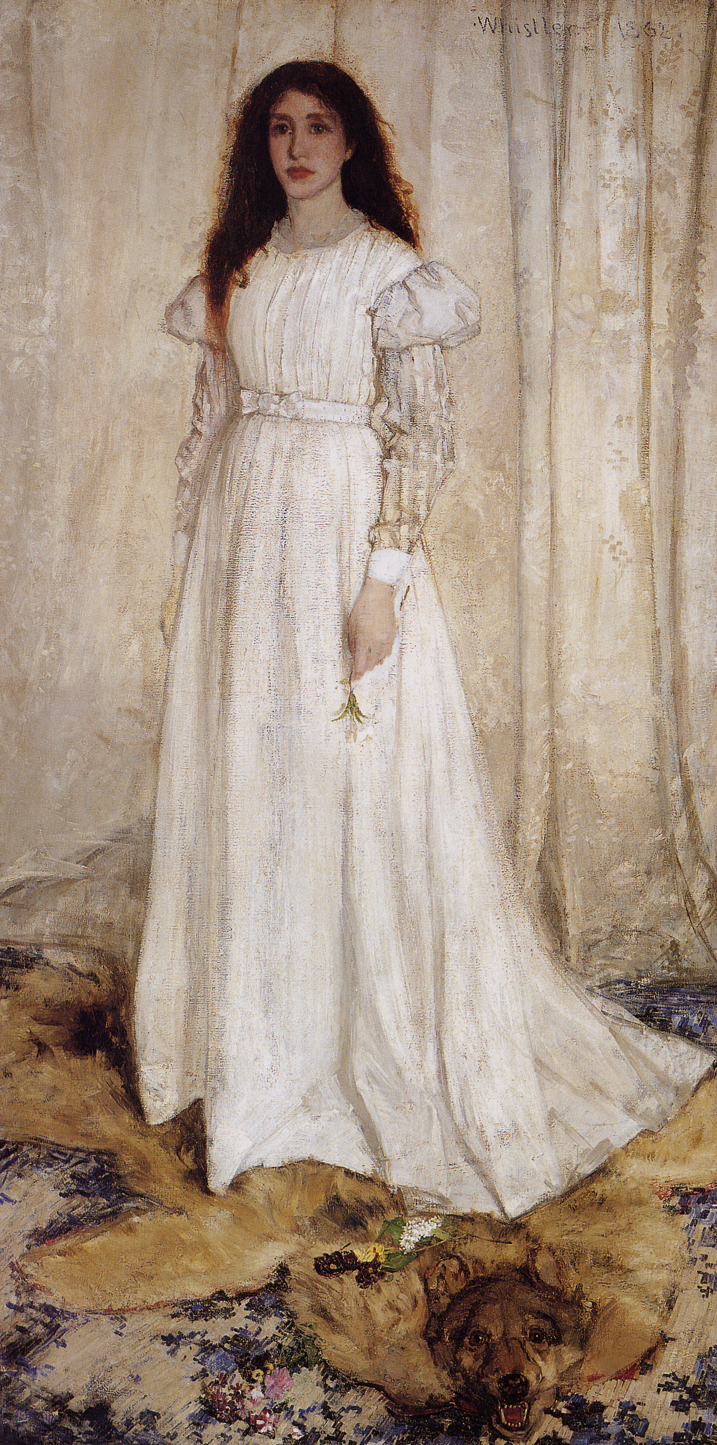 James Whistler Symphony in White no 1 The White Girl 1862