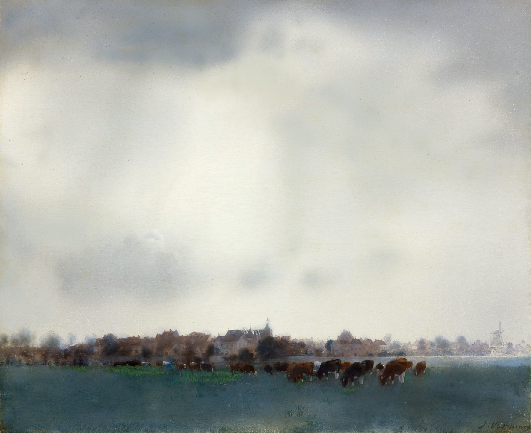 Jan Voerman Gezicht op Hattem