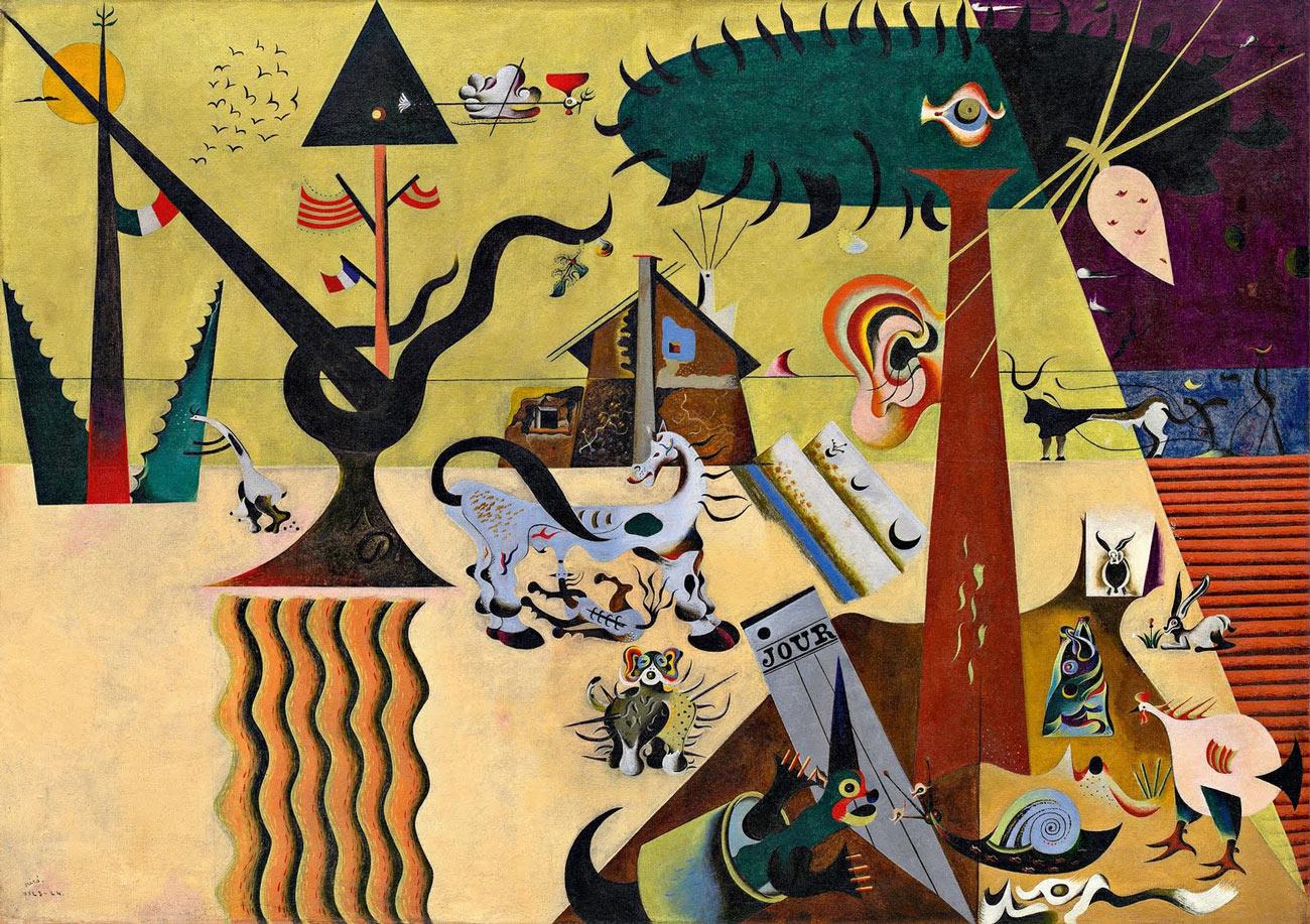 Joan Miro The Tilled Field