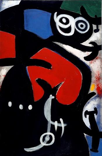 Joan Miro Vrouw en vogel 1968
