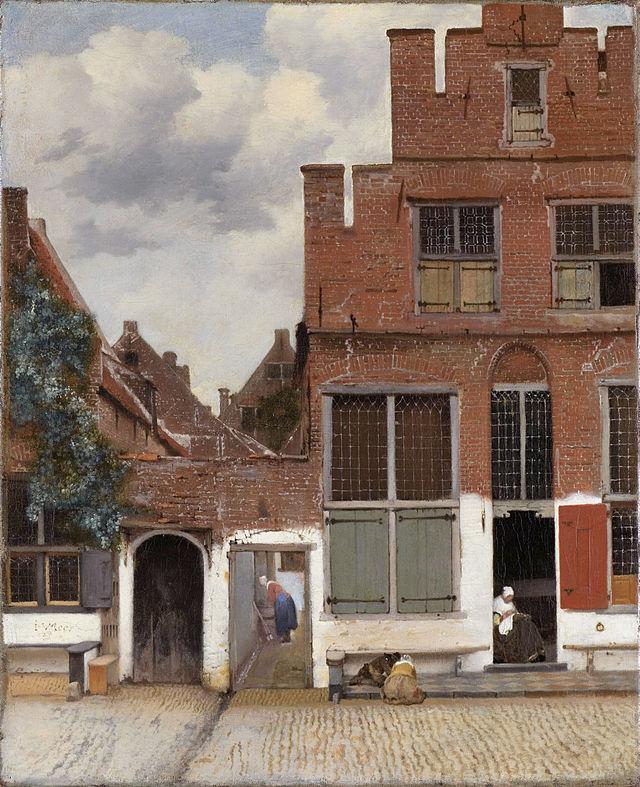 Johannes Vermeer  Het Straatje of Gezicht op huizen in Delft