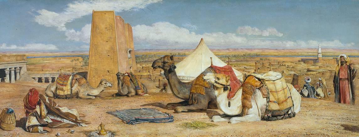 John Frederick Lewis Edfu Upper Egypt 1860