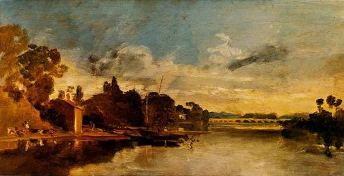 Joseph Mallord William Turner The Thames near Walton Bridges