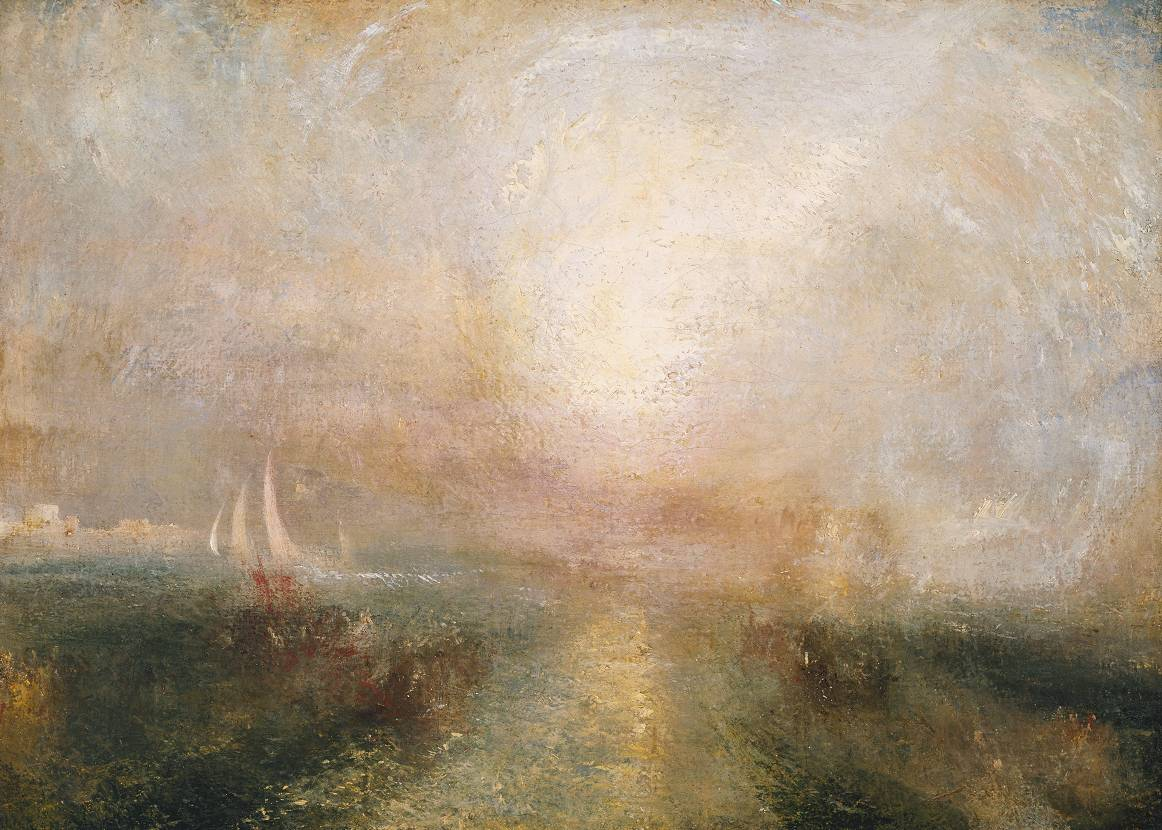 Joseph Mallord William Turner yacht approaching the coast