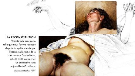 Courbet Gustave L origine du monde reconstructie