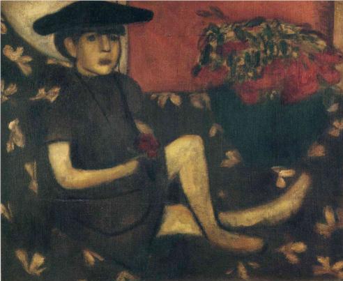 Marc Chagall Young girl on a sofa mariaska 1907