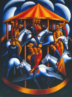 Mark Gertler The merry go Round at Night