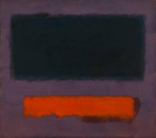 Mark Rothko Grey orange on maroon