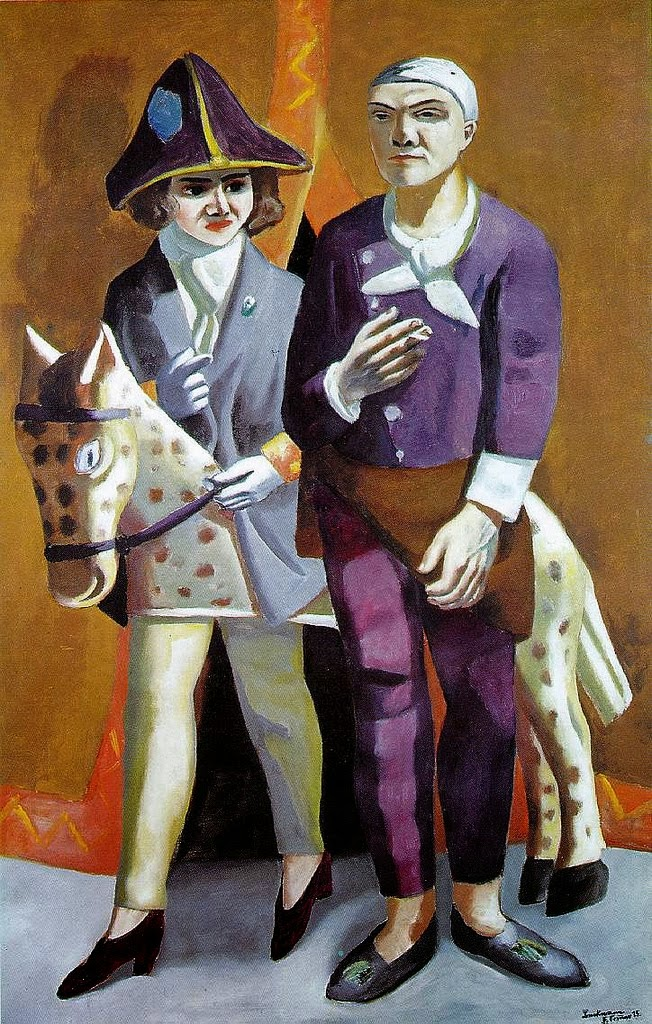 Max Beckmann Carnival The Artist and His Wife 1925