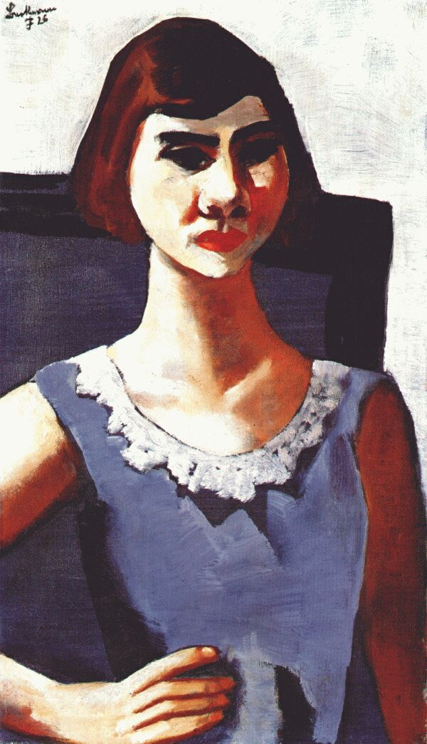 Max Beckmann Quappi in blue 1926