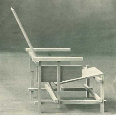 Gerrit Rietveld onbeschilderde stoel