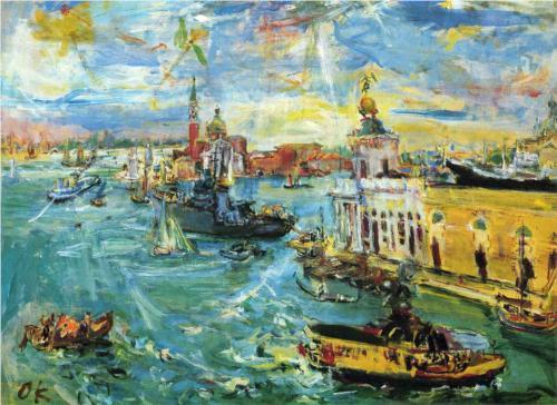 Oskar Kokoschka Venice Dogana 1948