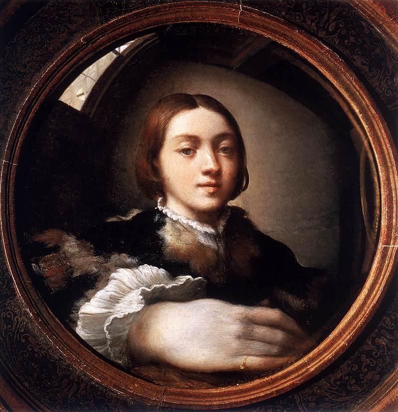 Parmigianino Zelfportret met bolronde spiegel Self-Portrait in a Convex Mirror