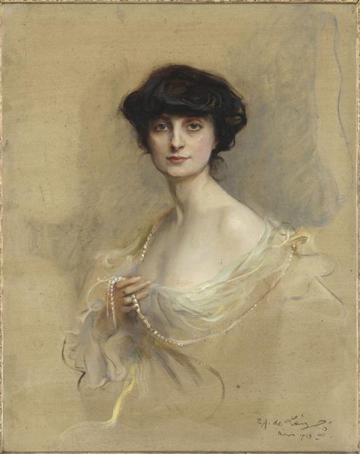 Philip Alexis de Laszlo, La comtesse Anna de Noailles, 1913, oil on canvas, 93 x 73 cm, Musee d Orsay, Paris