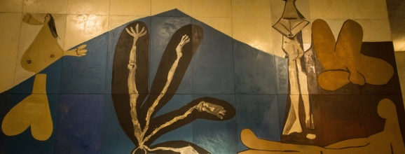 Picasso The Fall of Icarus 1958 in UNESCO building