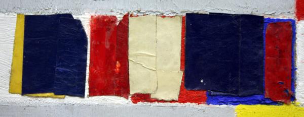 Piet Mondriaan - Victory Boogie Woogie - Olieverf, tape-papier, houtskool en potlood detail