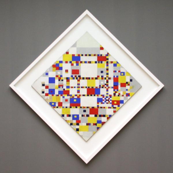 Piet Mondriaan - Victory Boogie Woogie - Olieverf, tape-papier, houtskool en potlood