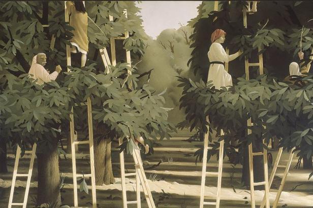Pyke Koch De oogst 1953 olieverf op doek 209 x 269,5